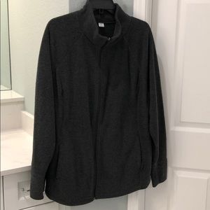 Dark Gray Maternity Fleece Jacket